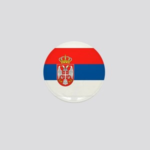 Serbia Flag Mini Button