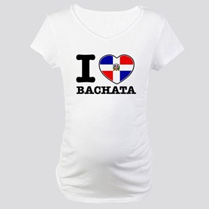 I love Bachata Maternity T-Shirt