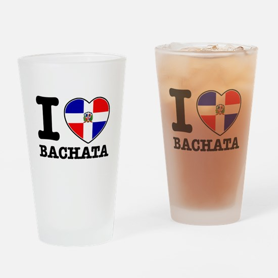 I love Bachata Drinking Glass