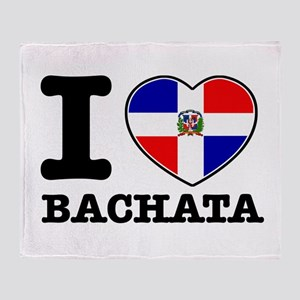 I love Bachata Throw Blanket
