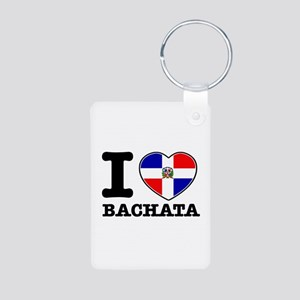 I love Bachata Aluminum Photo Keychain