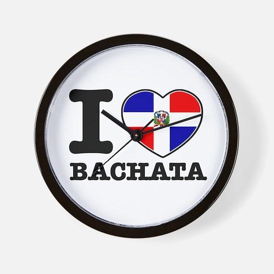 I love Bachata Wall Clock