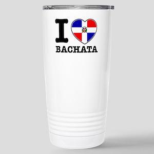I love Bachata Stainless Steel Travel Mug