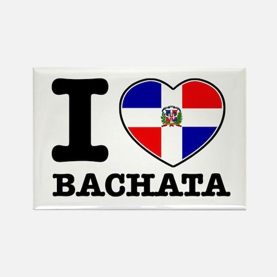 I love Bachata Rectangle Magnet