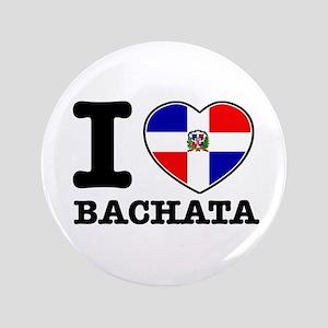 "I love Bachata 3.5"" Button"