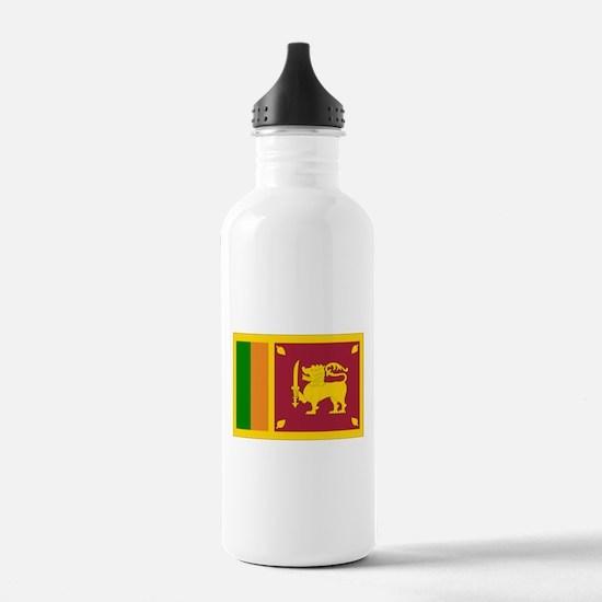 Sri Lanka Flag Water Bottle
