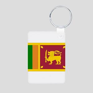 Sri Lanka Flag Aluminum Photo Keychain