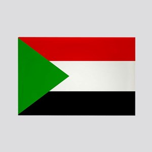 Sudan Flag Rectangle Magnet