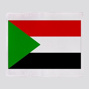Sudan Flag Throw Blanket