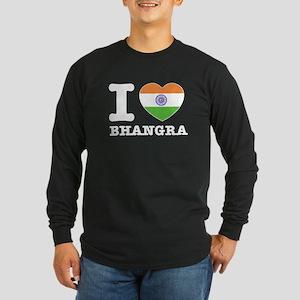 I love Bhangra Long Sleeve Dark T-Shirt