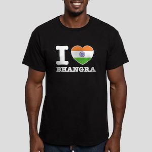 I love Bhangra Men's Fitted T-Shirt (dark)