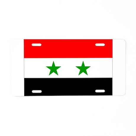 Syria Flag Aluminum License Plate