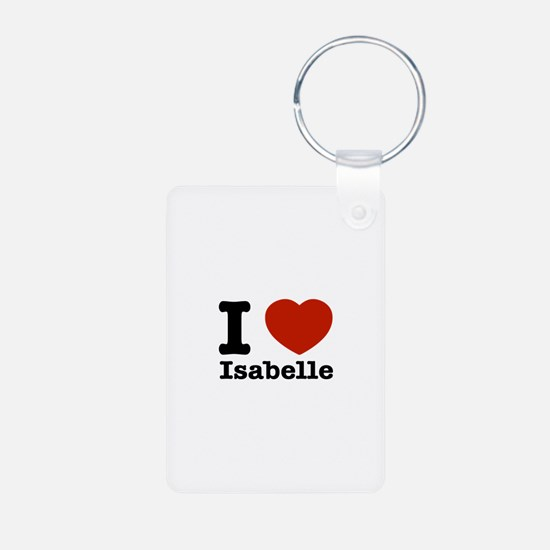 I love Isabelle Aluminum Photo Keychain