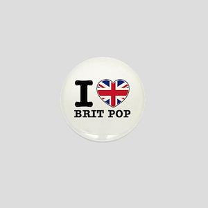 I love Brit Pop Mini Button