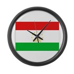 Tajikistan Flag Large Wall Clock
