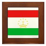 Tajikistan Flag Framed Tile