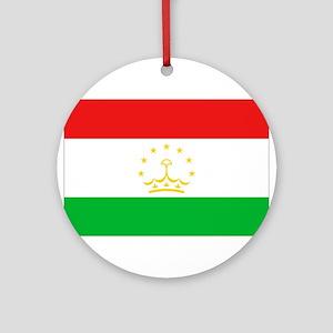 Tajikistan Flag Ornament (Round)