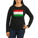 Tajikistan Flag Women's Long Sleeve Dark T-Shirt