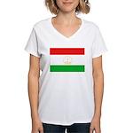 Tajikistan Flag Women's V-Neck T-Shirt