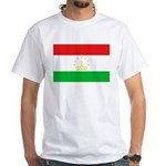 Tajikistan Flag White T-Shirt