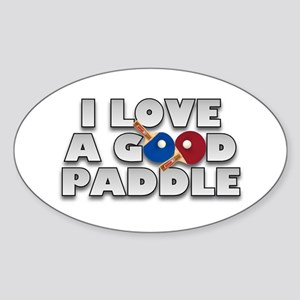 Table Tennis/Ping Pong Paddle Oval Sticker