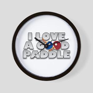 Table Tennis/Ping Pong Paddle Wall Clock