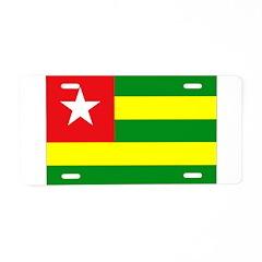 Togo Flag Aluminum License Plate
