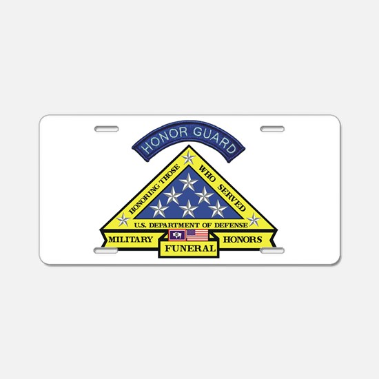 Honor Guard Aluminum License Plate