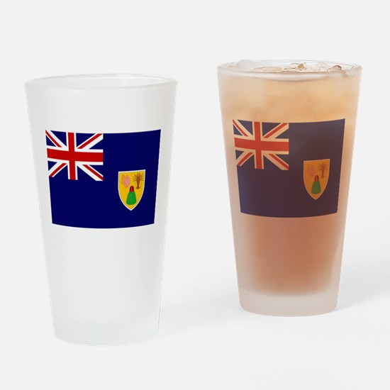 Turks and Caicos Flag Drinking Glass