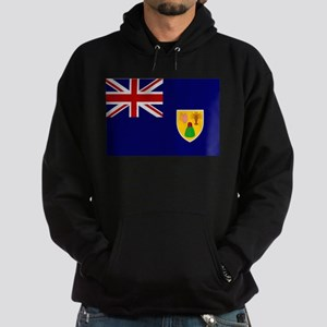 Turks and Caicos Flag Hoodie (dark)
