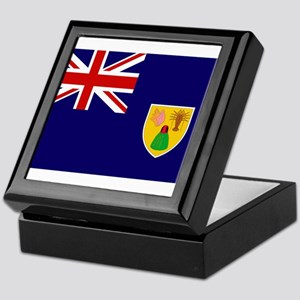 Turks and Caicos Flag Keepsake Box