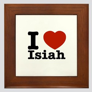 I love Isiah Framed Tile