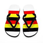 Uganda Flag Flip Flops