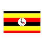 Uganda Flag 38.5 x 24.5 Wall Peel