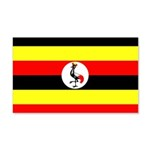 Uganda Flag 22x14 Wall Peel