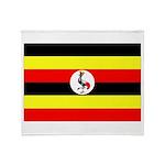 Uganda Flag Throw Blanket