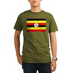 Uganda Flag Organic Men's T-Shirt (dark)