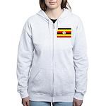 Uganda Flag Women's Zip Hoodie