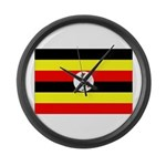 Uganda Flag Large Wall Clock