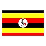 Uganda Flag Sticker (Rectangle 10 pk)