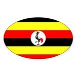 Uganda Flag Sticker (Oval 50 pk)