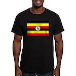 Uganda Flag Men's Fitted T-Shirt (dark)