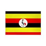 Uganda Flag Rectangle Magnet (10 pack)