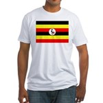 Uganda Flag Fitted T-Shirt