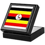 Uganda Flag Keepsake Box