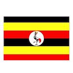 Uganda Flag Postcards (Package of 8)