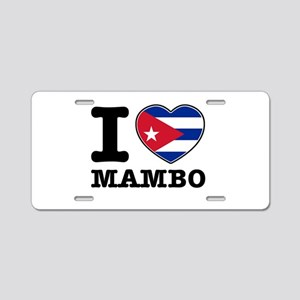 I love Mambo Aluminum License Plate