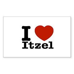 I love Itzel Sticker (Rectangle 50 pk)