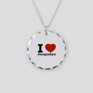 I love Jacquelyn Necklace Circle Charm