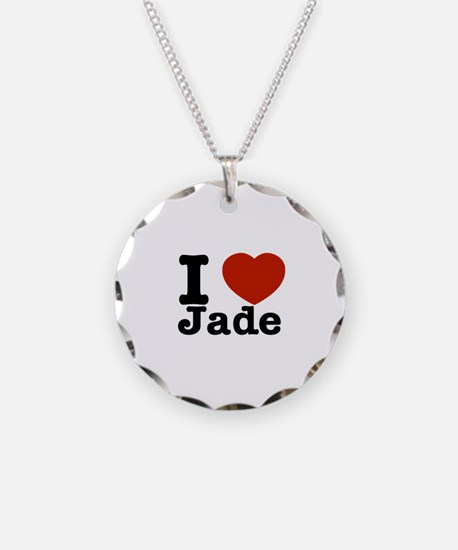 I love Jade Necklace